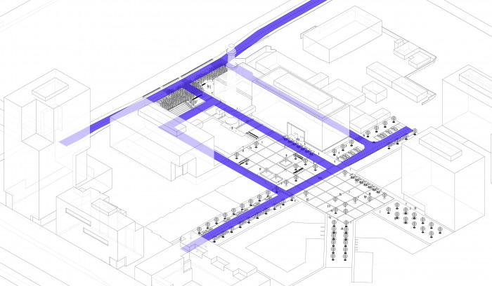 Рух обслуговуючого транспорту / Event plaza 'UNIT.City'