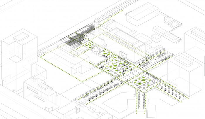 Рух пішоходів / Event plaza 'UNIT.City'