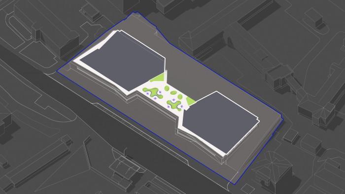 Утворюємо ніші в зелених зонах, які формують затишні місця відпочинку як для малих так і для великих компаній. / Територія ЖК 'Diadans'