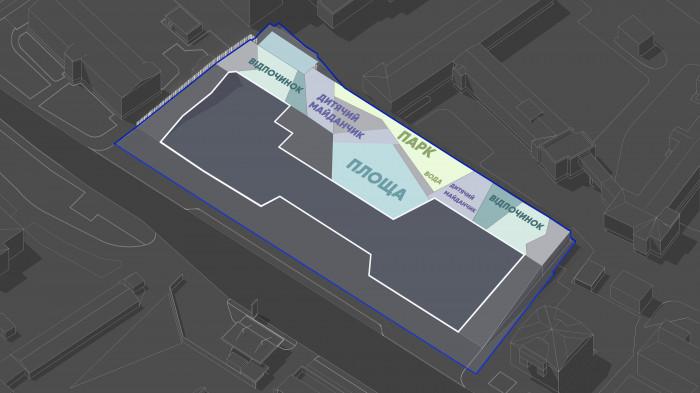 Структура площ дозоляє максимально використовувати територію / Територія ЖК 'Diadans'
