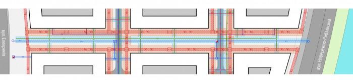 Інженерні комунікації / Пішохідний бульвар ЖК 'Rybalsky'