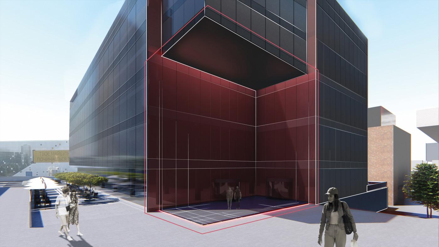 Центральний вхід / Бізнес-кампус 'UNIT.City'