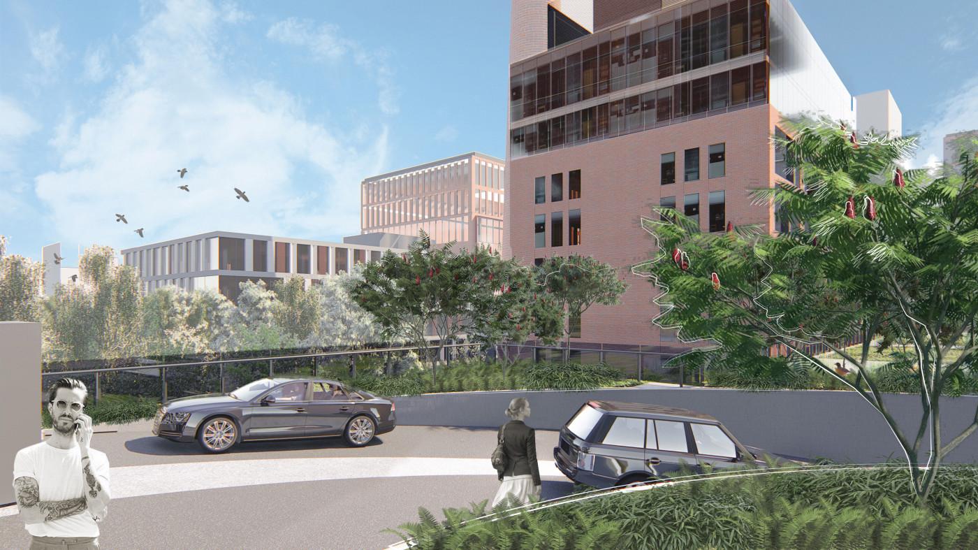 Заїзд до підземного паркінгу / Бізнес-кампус 'UNIT.City'