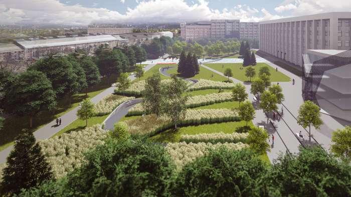 Площа перед ЦНАП / «Територія Майдану» — площа перед будівлею Полтавської ОДА