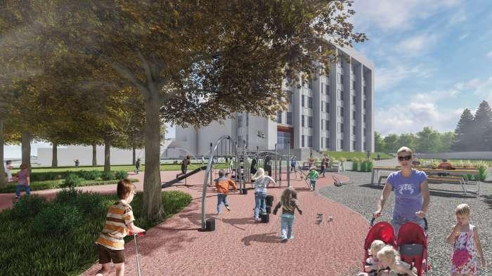 Дитячий майданчик / «Територія Майдану» — площа перед будівлею Полтавської ОДА