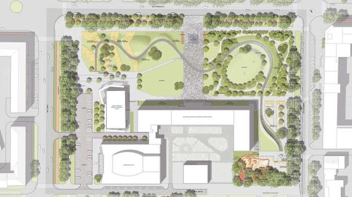 Генеральний план / «Територія Майдану» — площа перед будівлею Полтавської ОДА