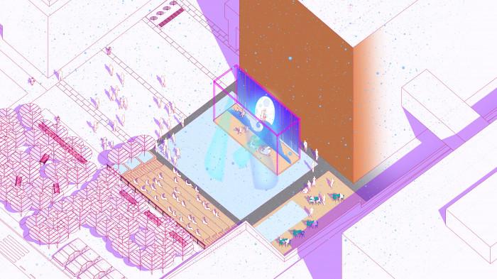 Відкритий аудиторіум — різдвяні вистави / Event plaza 'UNIT.City'