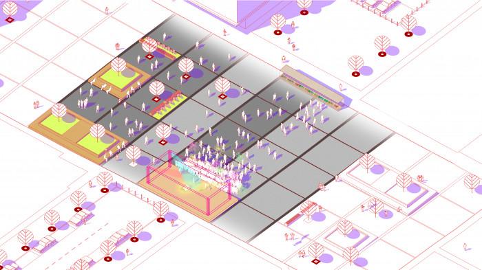 Площа на третьому етапі будівництва — концерти / Event plaza 'UNIT.City'