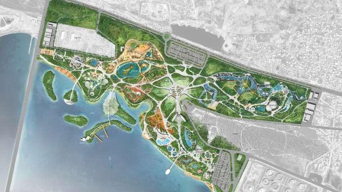 Генеральний план зоопарку з парком розваг / Парк розваг з зоопарком на території озера Беюк-Шор