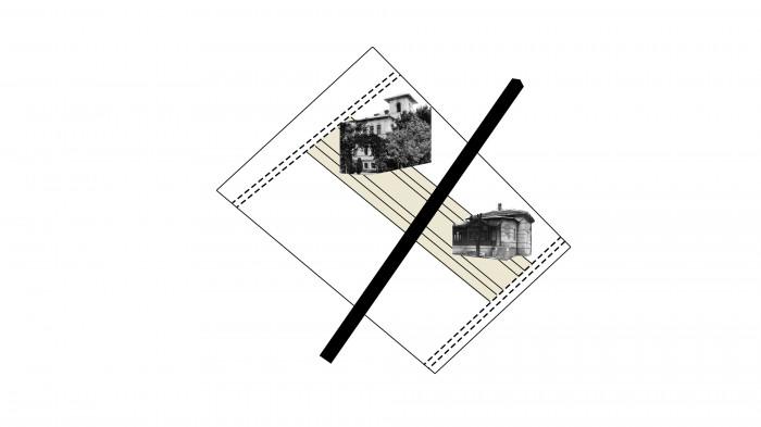 Будівлі поєднуємо прямолінійним мостінням / Територія ЖК 'Kandinsky'