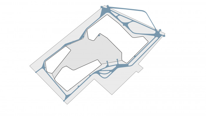 Аналізуємо основні пішохідні потоки / Територія ЖК 'Kandinsky'