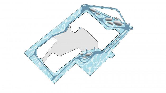 В місцях концентрації людей встановлюємо острівні лави та зони з активностями / Територія ЖК 'Kandinsky'