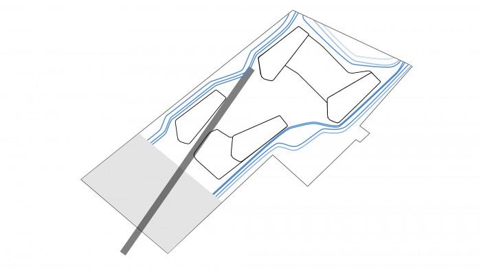 Плавні лінії підкреслюють архітектуру будівель та проходять по основним пішохідним зв'язкам / Територія ЖК 'Kandinsky'