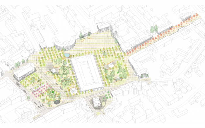 Проект реконструкції Контрактової площі / Відновлення скверу №3 на Контрактовій площі
