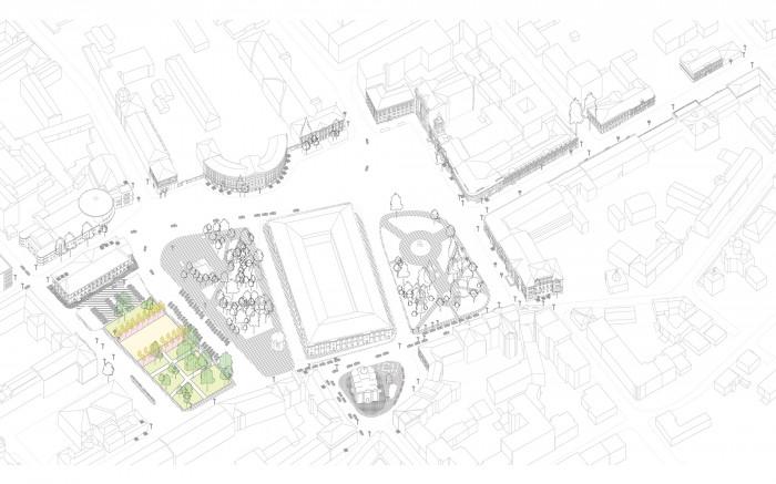 Відновлення скверу №3 / Відновлення скверу №3 на Контрактовій площі