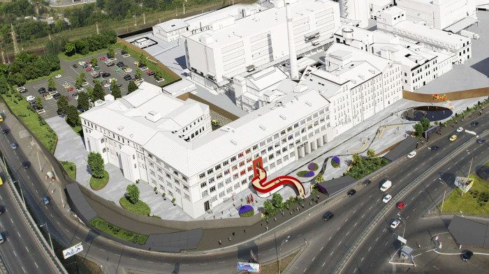 '33bY Architecture' / Внутрішній двір офісу 'Roshen'