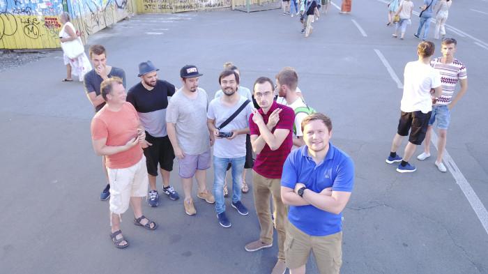 Частина команди «Нової Контрактової» / Відновлення скверу №3 на Контрактовій площі