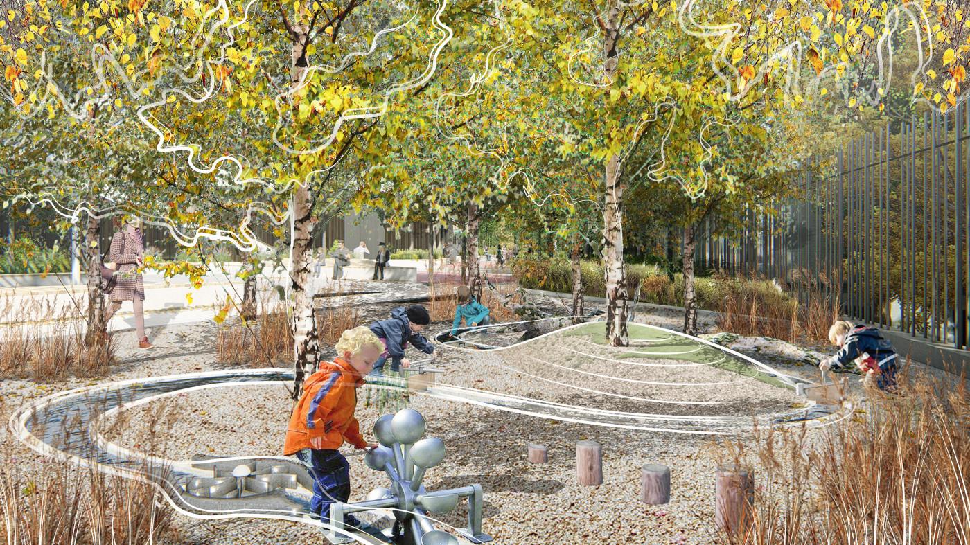 Дитячий майданчик для гри з водою / Територія ЖК 'Diadans'