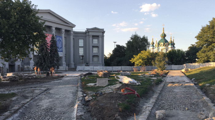 Процес реконструкції Старокиївської гори / Відновлення Старокиївської гори