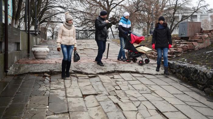 Стан мостіння / Відновлення Старокиївської гори