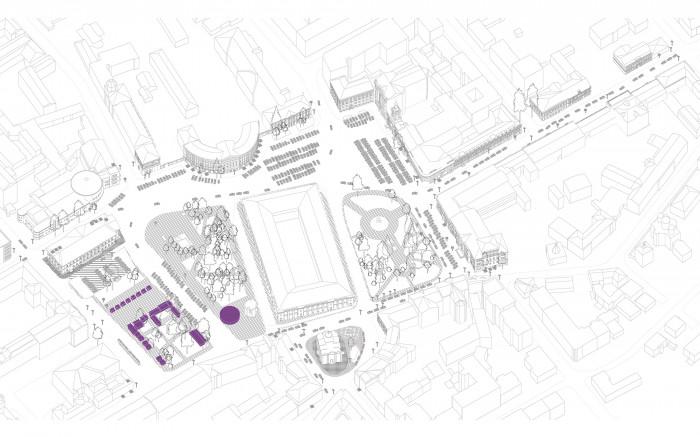Демонтаж МАФ / Відновлення скверу №3 на Контрактовій площі