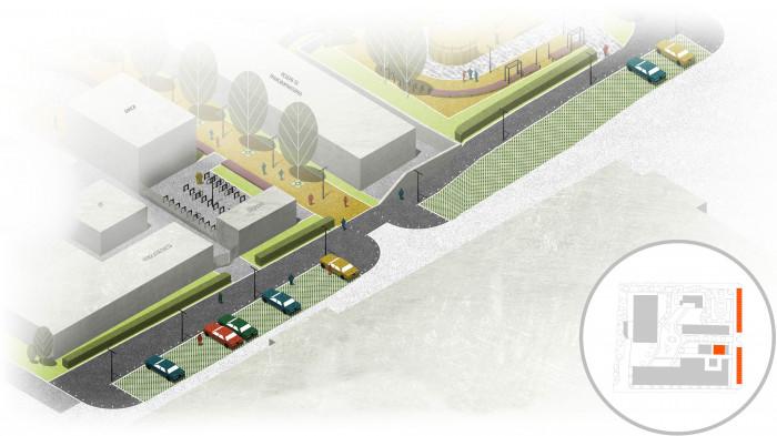 Для тих, хто приїхав на авто чи велосипеді, буде паркування з охороною / Інноваційний парк 'UNIT.City'