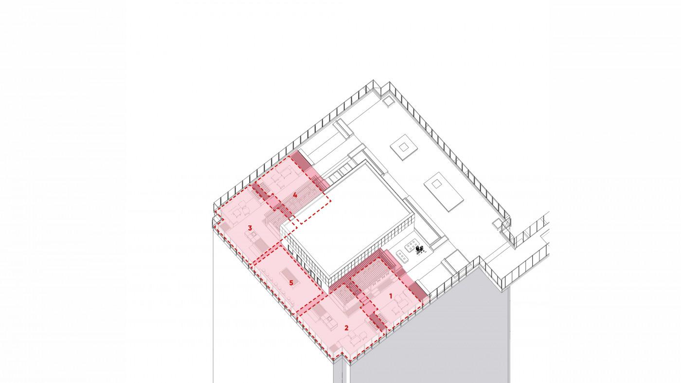 / Дах ЖК 'Tetris Hall'