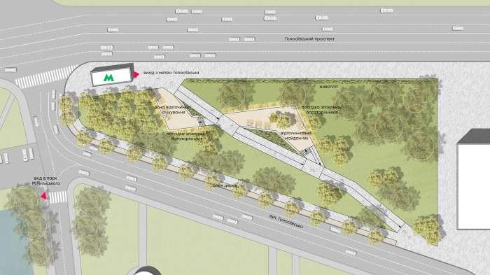 Генеральний план / Сквер на Голосіївській площі
