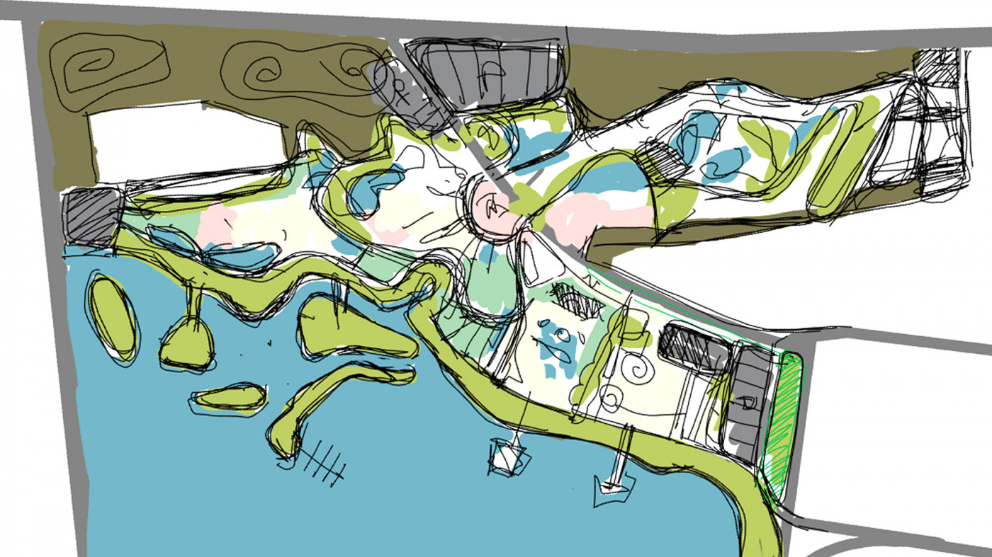 Ескізний пошук / Парк розваг з зоопарком на території озера Беюк-Шор