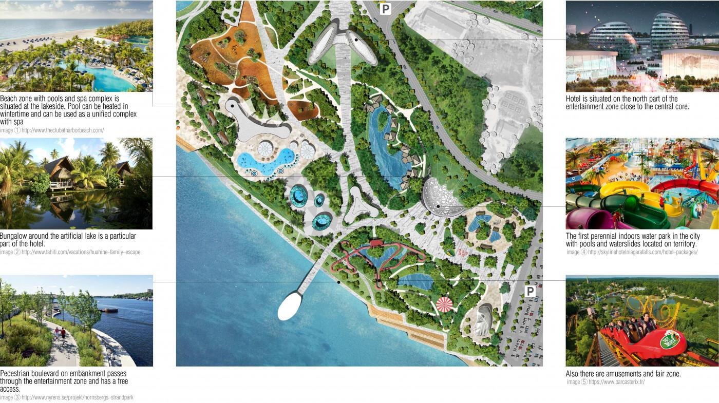 / Парк розваг з зоопарком на території озера Беюк-Шор