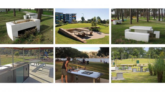 Приклади громадських зон барбекю в парках / Воркшоп «Одеські схили»