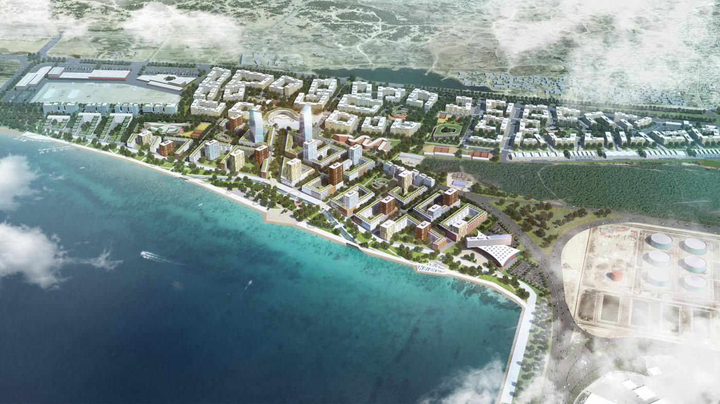 / Residential area on the territory of Boyukshor lake