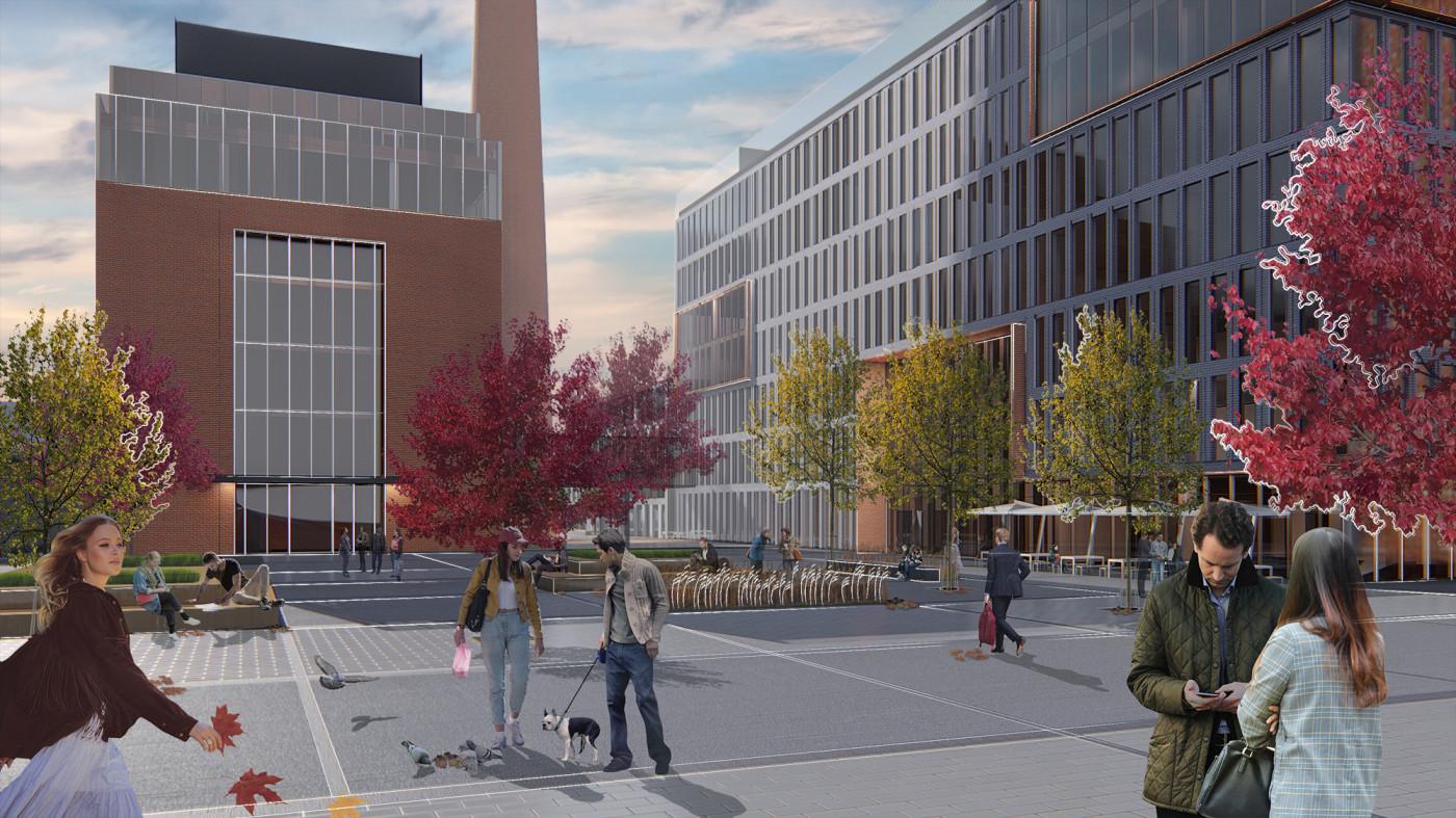 Центральна площа — серце інноваційного середовища 'Unit.City' / Event plaza 'UNIT.City'