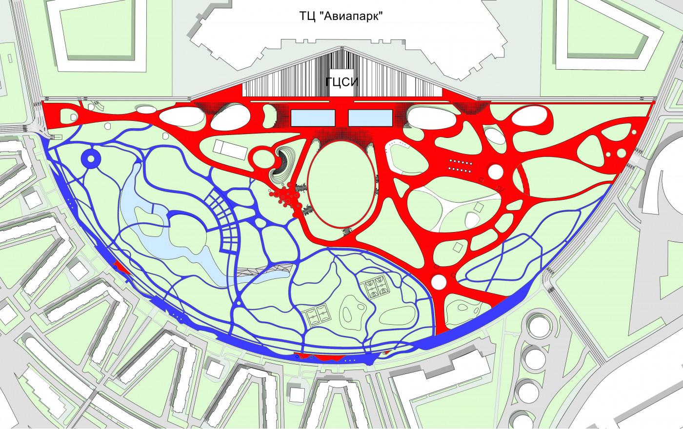 Зонування пішохідних потоків / Парк «Ходинське поле»