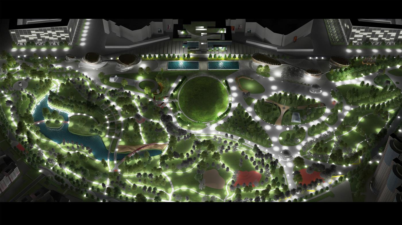 Освітлення парку / Парк «Ходинське поле»