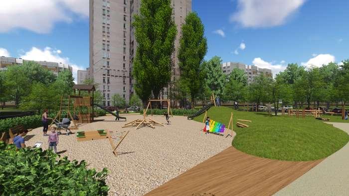 / Yard at Obolonskii district