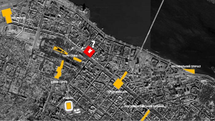 Схема активних громадських просторів / Театральна площа
