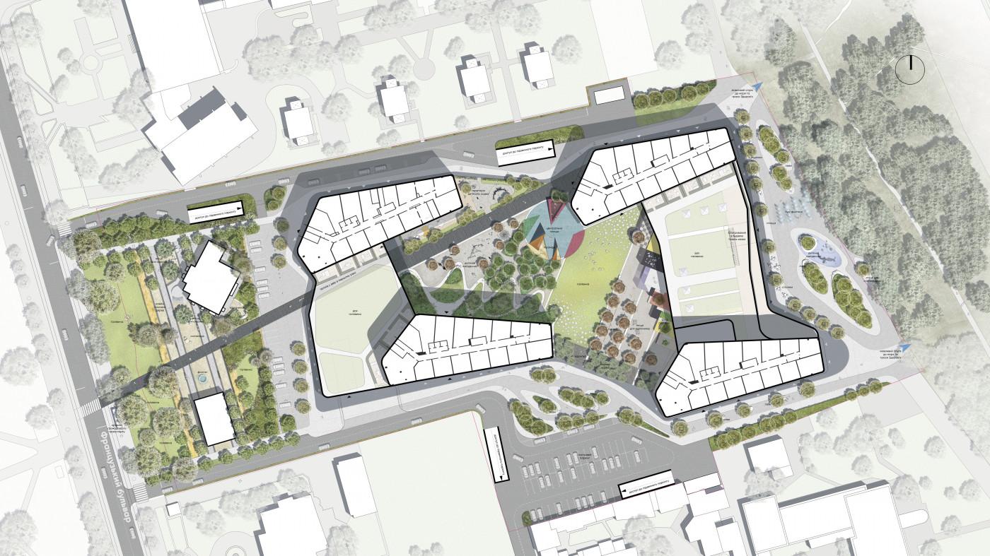 Master Plan / Residential complex 'Kandinsky'