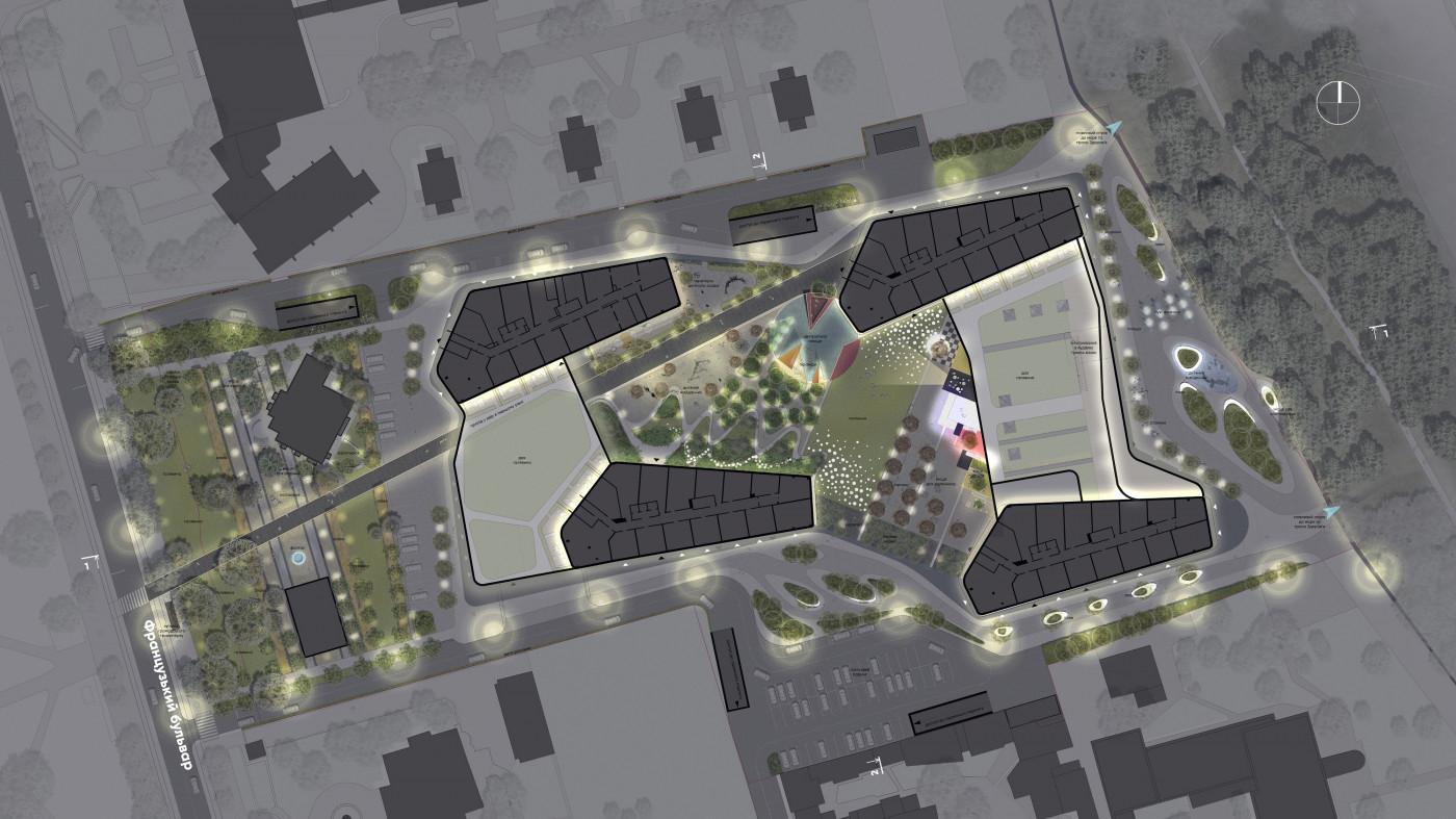 Lighting / Residential complex 'Kandinsky'