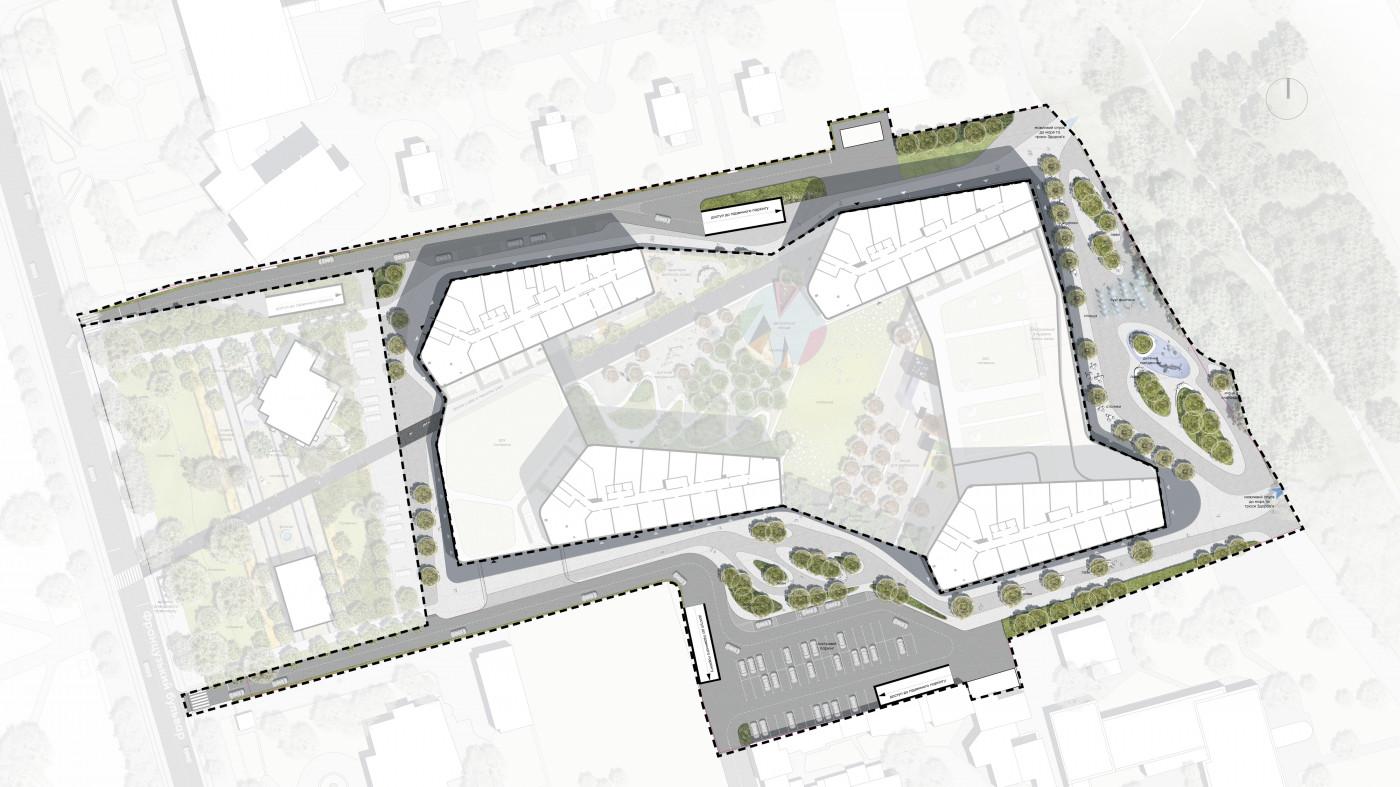 Фрагмент генерального плану / Residential complex 'Kandinsky'
