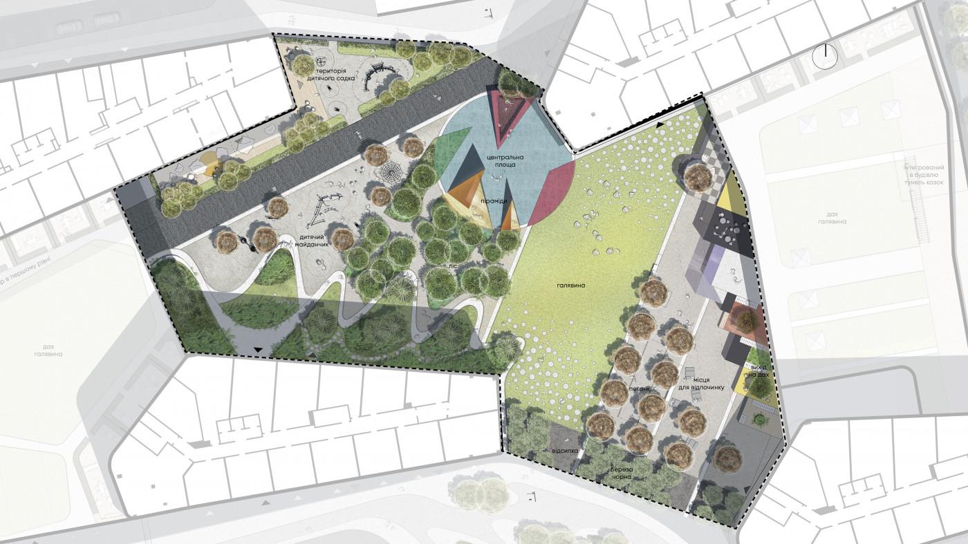 Двір — колективний простір мешканців / Residential complex 'Kandinsky'