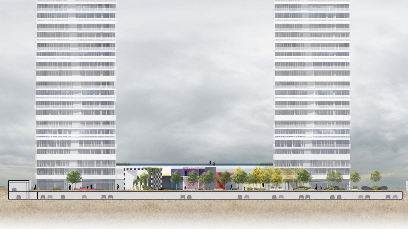 Розріз 2-2 / Residential complex 'Kandinsky'