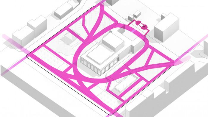 Поєднання пішохідних зв'язків / Театральна площа