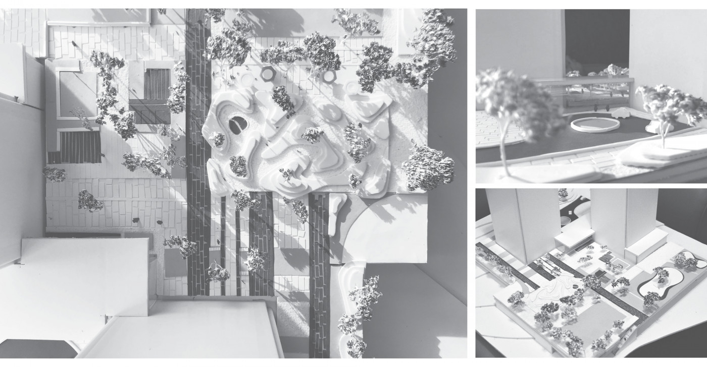 Model / Residential complex 'Tetris Hall'