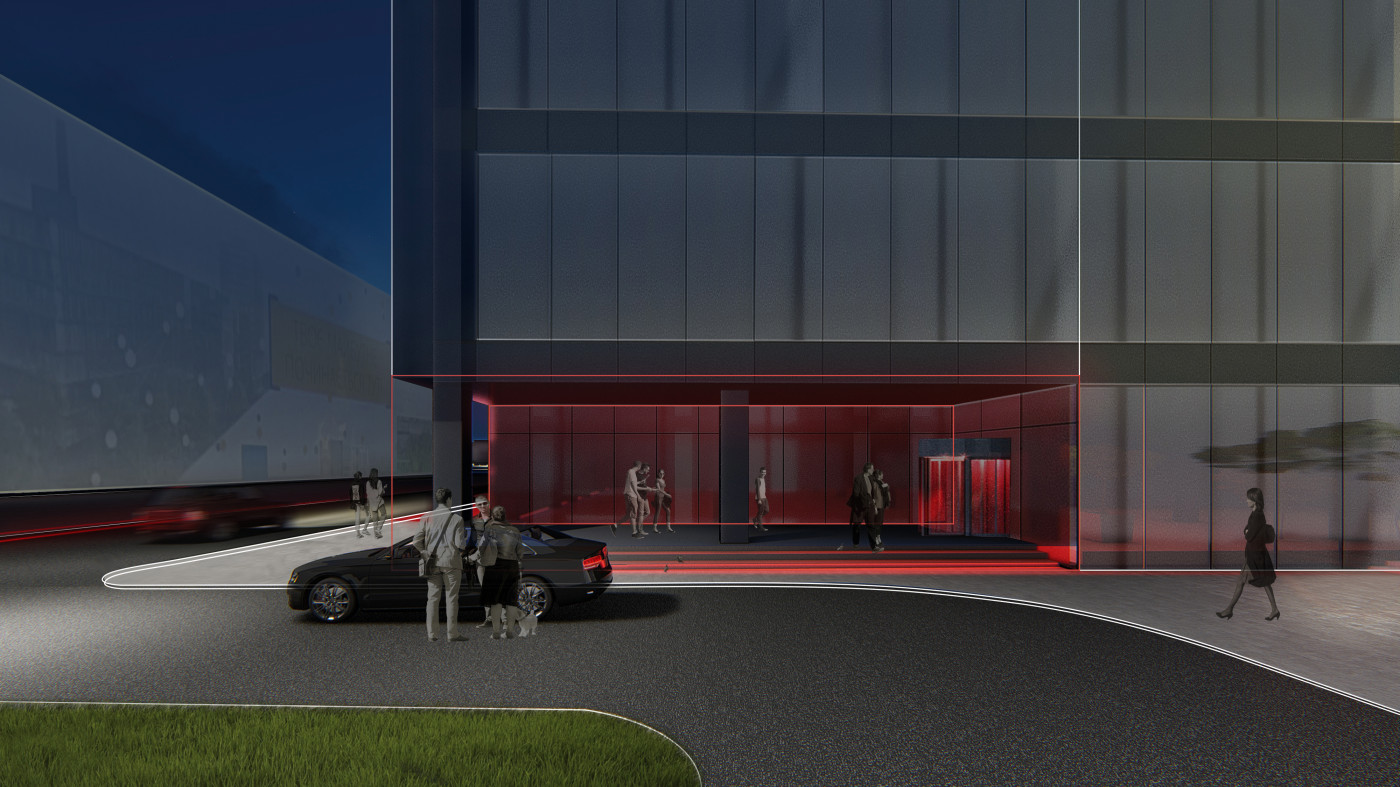 Entrance with car access / Business Campus 'UNIT.City'