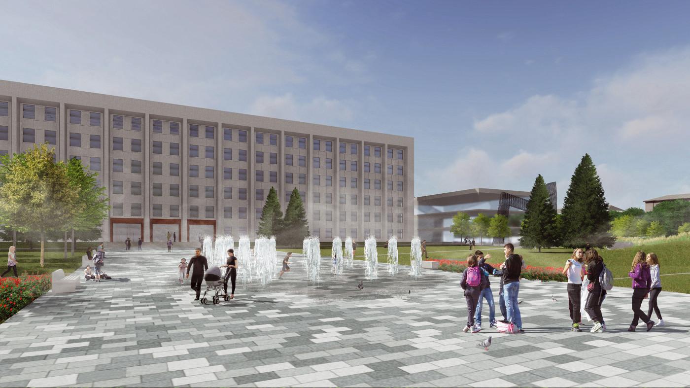 / Poltava regional administration square