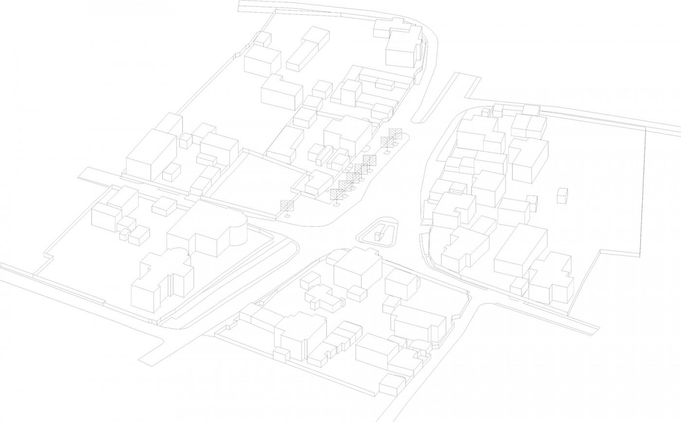 Етапність формування центру села / Development strategy of the Cathedral Street
