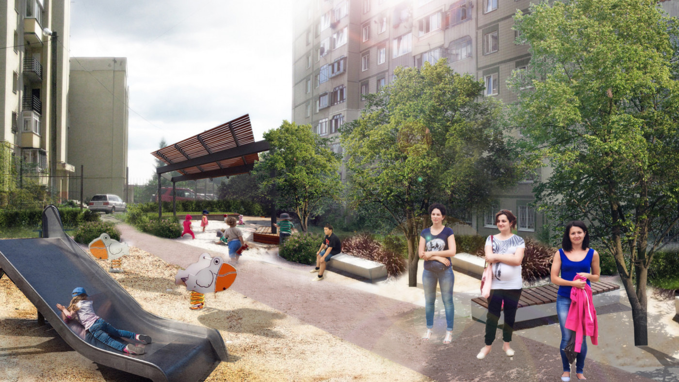/ Yard reconstruction