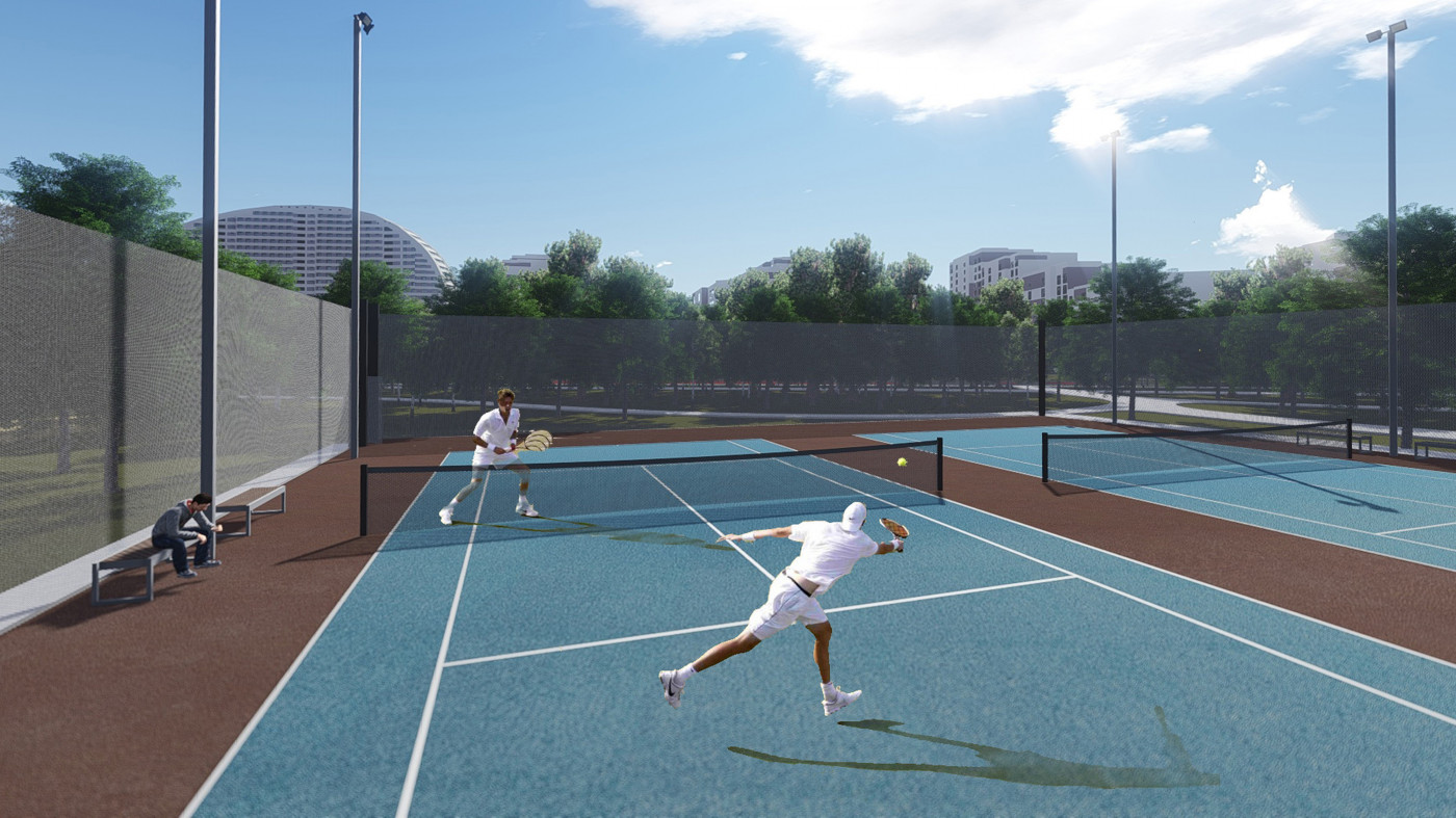 Tennis courts / 'Khodynka field' Park