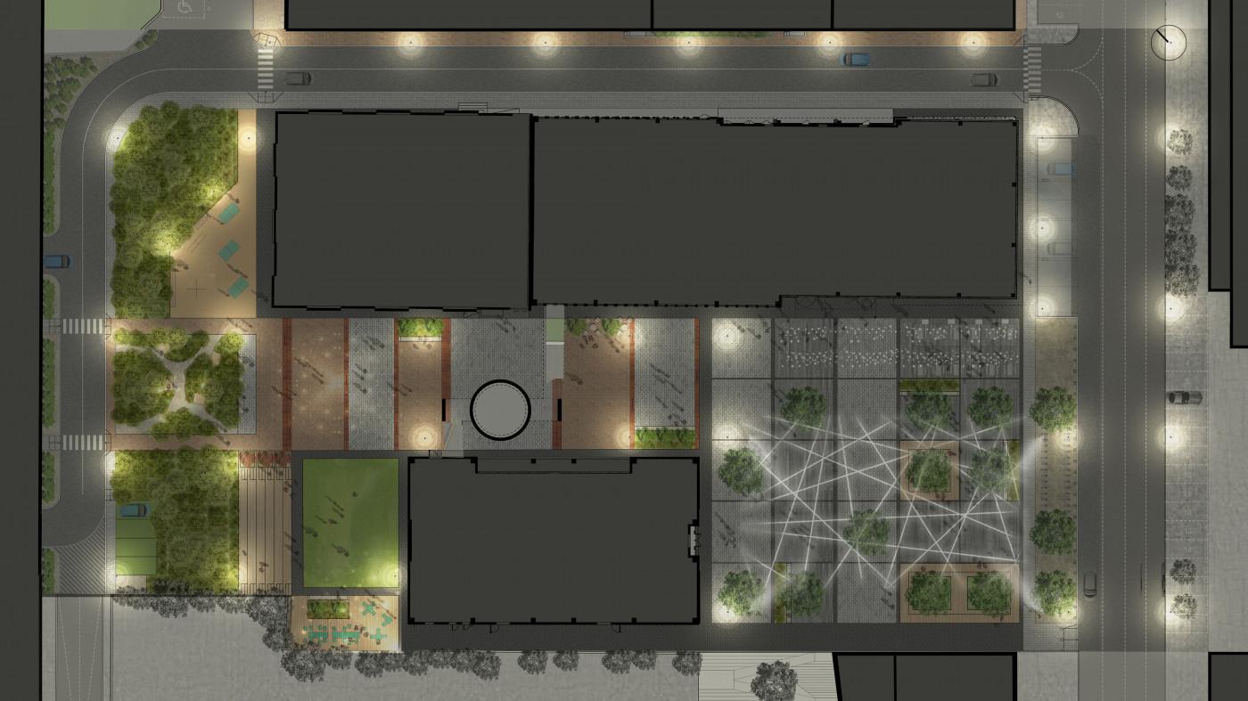 План освітлення / Event plaza 'UNIT.City'